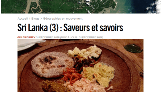 Libé 3 Gastronomie Sri Lanka